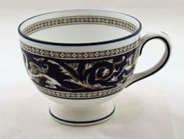 Wedgwood Navy Florentine Tea Cups