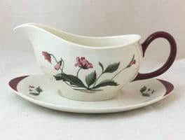 Wedgwood Ruby Mayfield Gravy Boats and Stands