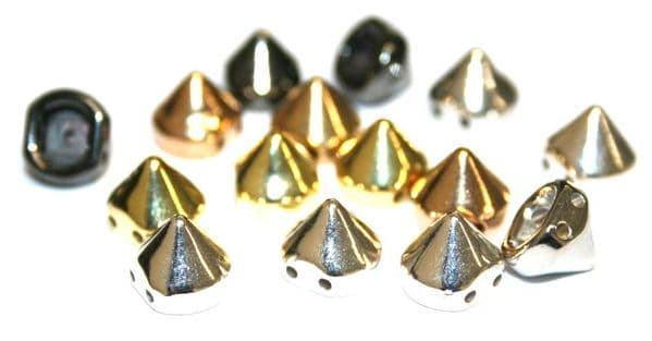 Studs and spikes for making jewellery - with a hole or ring