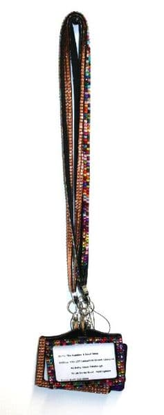Rhinestone, Diamante, Crystal, Bling custom lanyard & ID badge