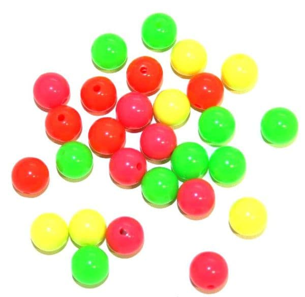 Arcylic beads -- neon colours beads