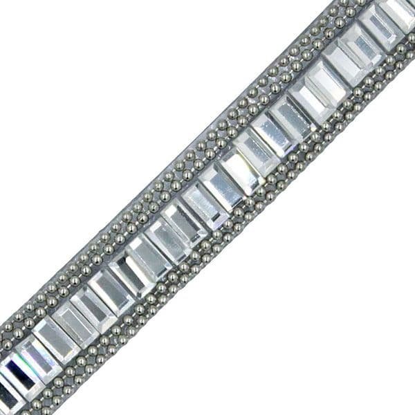 1 metre x 10 mm Clear crystal single bar and chain