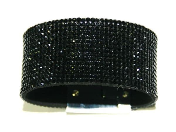 1.5mm diamante sheet - 25 chatons per square cm - black -- c40090016