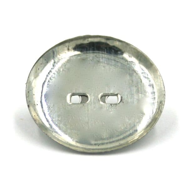 10 x 13mm Silver plated circular brooch back with pin
