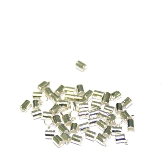 1000pcs X 1.5mm silver plated tube crimp on copper - 9014059