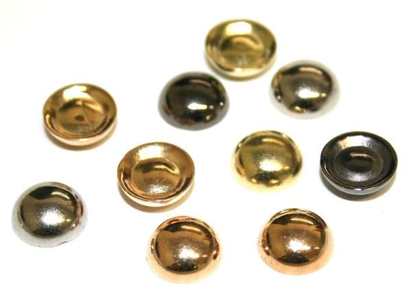10mm Dome shaped glue on beads