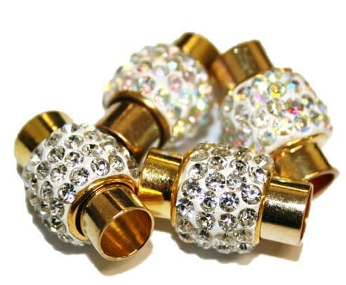 15mm x 11mm Shamballa style magnetic clasp -- gold colour