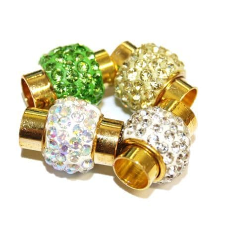17mm x 14mm Shamballa style magnetic clasps -- gold colour