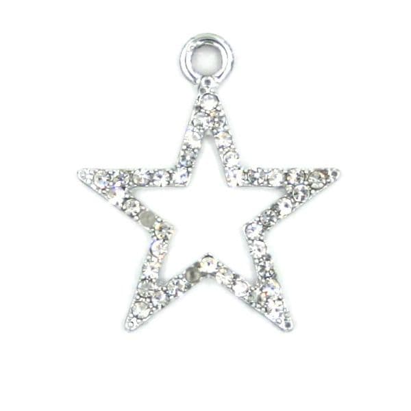 23mm Crystal star frame charm