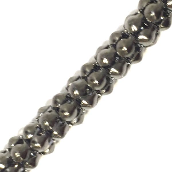 6mm Gunmetal colour reticulated chain -- 1meter - S.B -  - 3002008