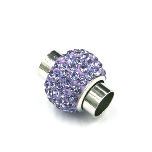 7mm - 17mm*14mm lilac stone pave crystal magnetic clasps -rhodium-15