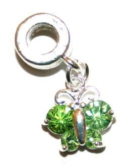 Butterfly Charm And Carrier In Green
