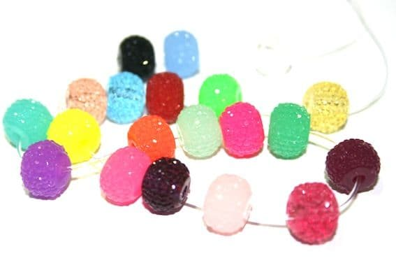 Diamond acrylic rondelle beads- Search by colour