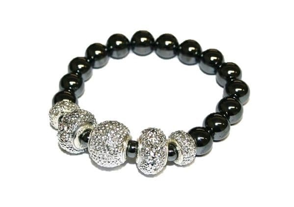 Diamond acrylic with Hematite bead bracelet kit 2