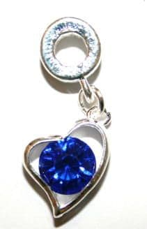 Love Heart Charm And Carrier In Royal Blue