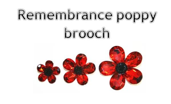 Make a remembrance poppy brooch in less than 5 mins