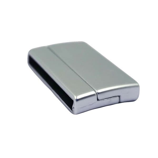 Matte silver curved clasp (various sizes)
