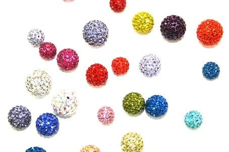 Pave Crystal Beads