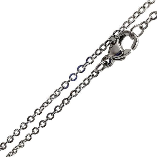 Ready-made Stainless steel 2mm oval link chain 18 inches