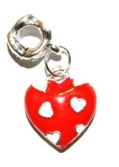 Red Love Heart Charm And Carrier