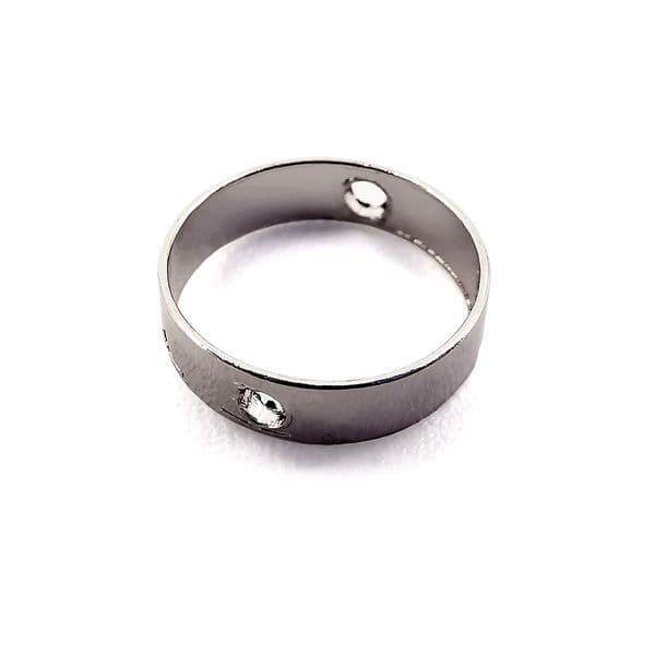 Rhodium Plated Connector Ring x 10