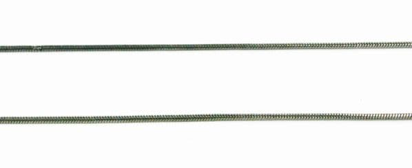 Snake chain gun metal 1mm