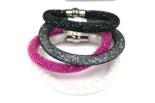 Starburst bracelet kits - Made with mesh tubing