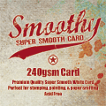 Smoothy (Regular) A4 White Stamping Card (Pkt 10)