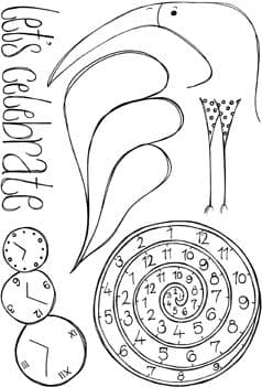 Squiggly Ink - Ding & Dong Plate 7