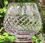 3/4 Cut Footed Crystal  Bowl