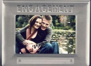 On your engagement photo frame