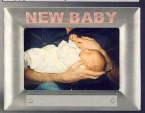 Pink New Baby Photo Frame