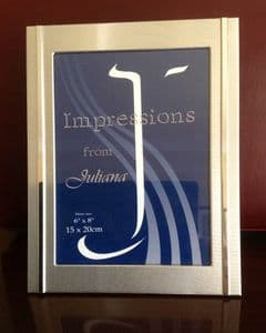 Satin Finished 'Impressions' Picture Frame (6