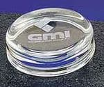 Small Round Paperweight. Engraving on just for show. Price includes your engraving
