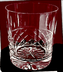 Tartan Crystal  10 oz Whisky with panel for engraving