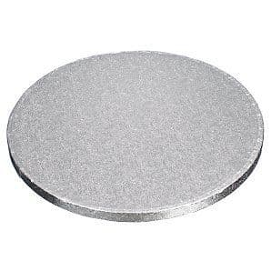 """12"""" Round Silver Cake drums - 5pack"""