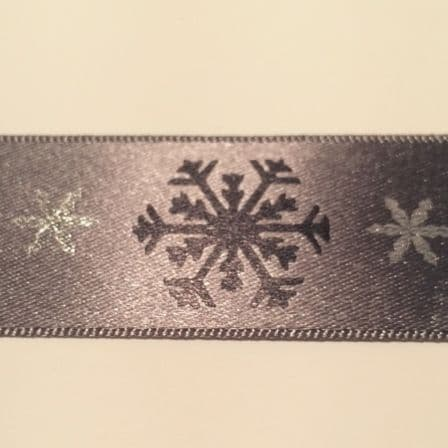 Black Snowflake Ribbon