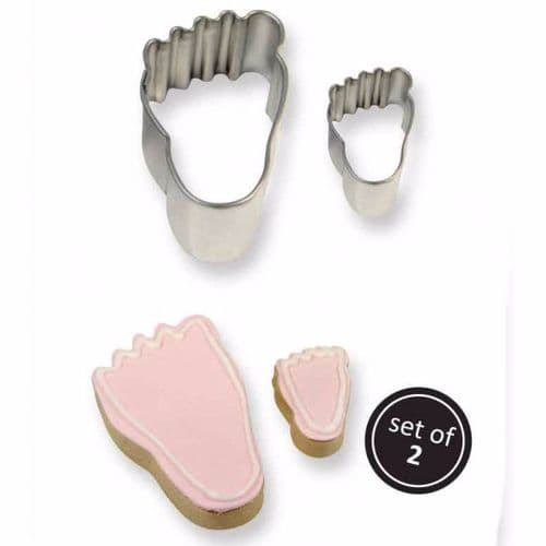 Cookie & Cake Foot Cutter (Set/2)