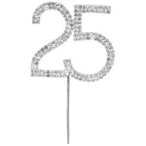 Diamante Number Cake Pick – 25