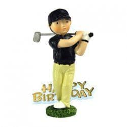 Golfer Happy Birthday Cake Topper