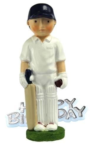 Happy Birthday Cricketer Cake Topper