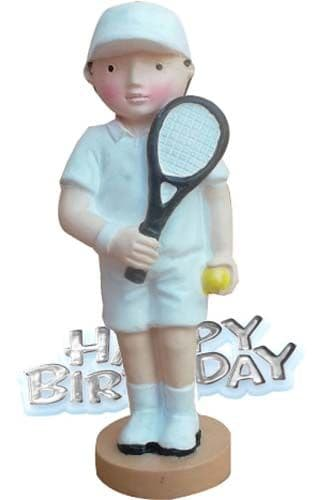 Happy Birthday Tennis Player Cake Topper