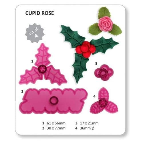 Jem Cutters - Cupid Rose, Holly and Berries.