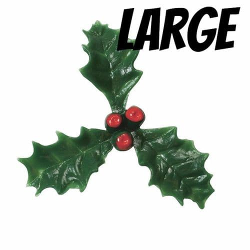 Large Plastic Holly with Red Berry