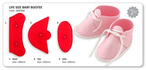 Life size Baby Bootie Cutter