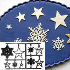 Patchwork Cutters/Embossers Christmas Snowflakes & Stars