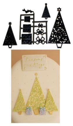 Patchwork Cutters/Embossers Christmas Trees/Parcels