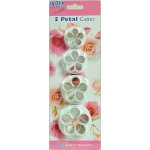 PME 5 Petal Cutters (SML, MED, LARGE, XL) - Set of 4
