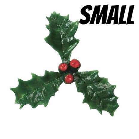 Small Plastic Holly with Red Berry