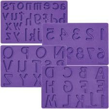 Wilton Letters/Numbers Fondant & Gum Paste Mould set/4